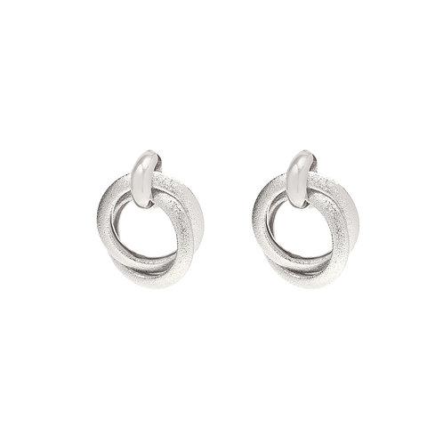Spotlight earring - silver