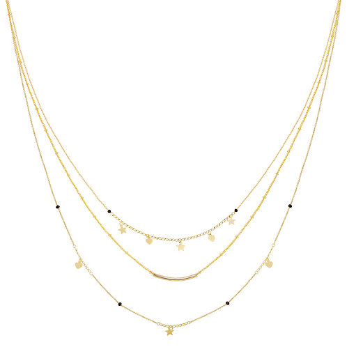 Necklace - famous star - gold