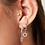 Thumbnail: Earring Sparkle Snake - Zilver
