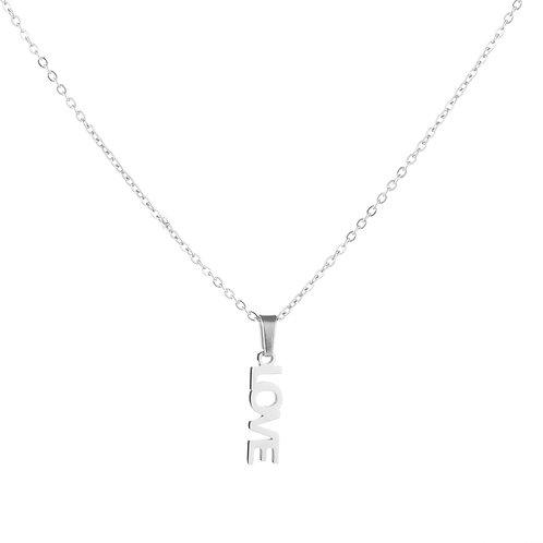 Forever love necklace - zilver