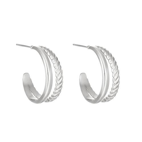 Wild ride earring - zilver