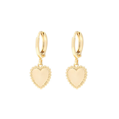 Follow your heart earring - gold