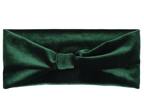 Velvet headband - Army Green