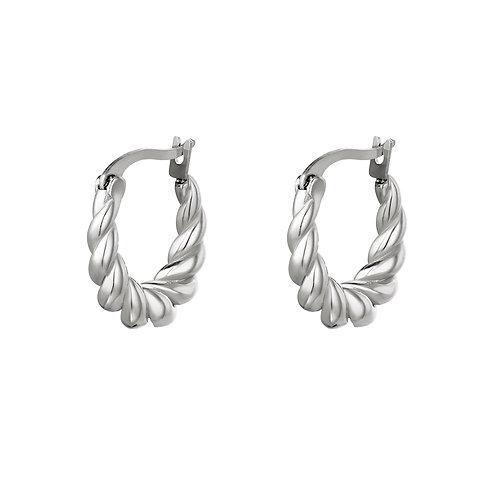 Twisted earring - zilver