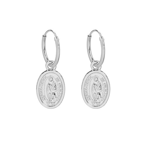 The mary earring - zilver