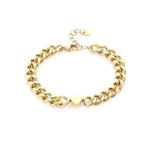 Heartbeat bracelet - goud