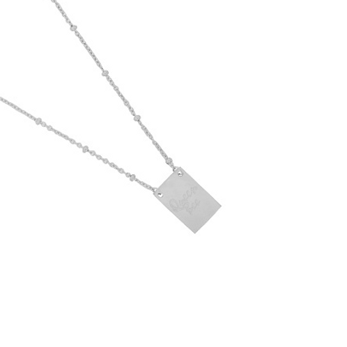 Queen B necklace - Silver