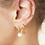 Thumbnail: The wave earring - goud
