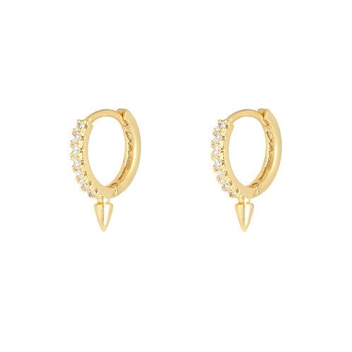 Spike earring - goud