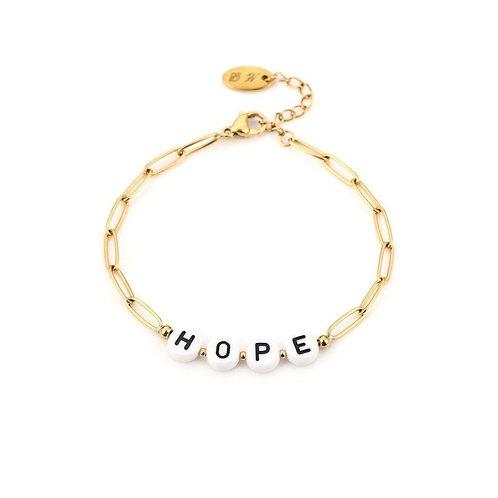 Hope bracelet - goud