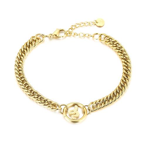 Snake fever bracelet - goud