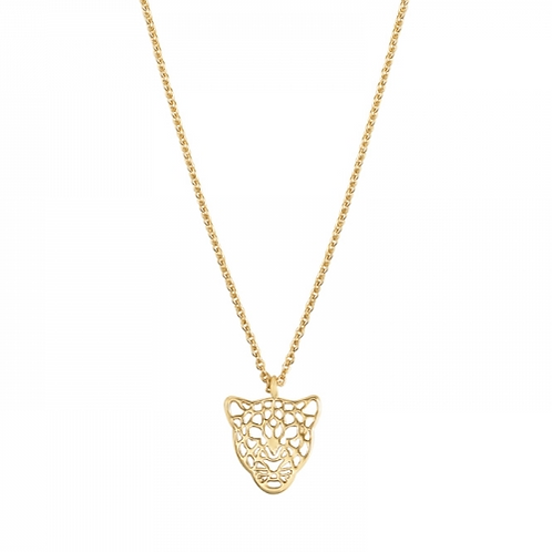 Get em tiger necklace - Gold
