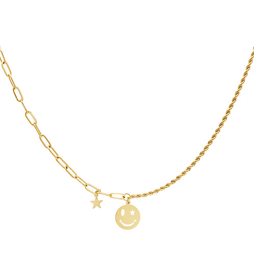 Smile with me necklace - goud