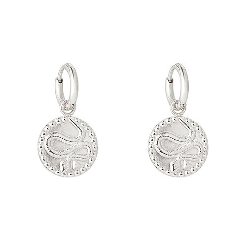Vintage snake earring - silver