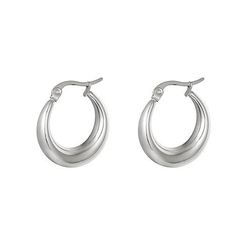 Just us earring - zilver