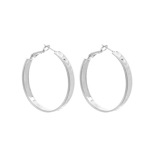 Bold hoops earring - zilver