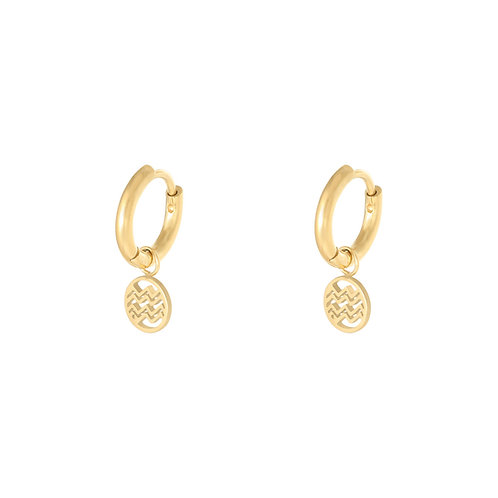 The wave earring - goud