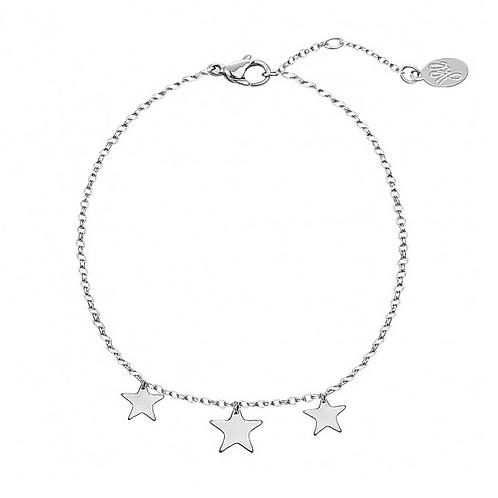 Triple star bracelet - Silver