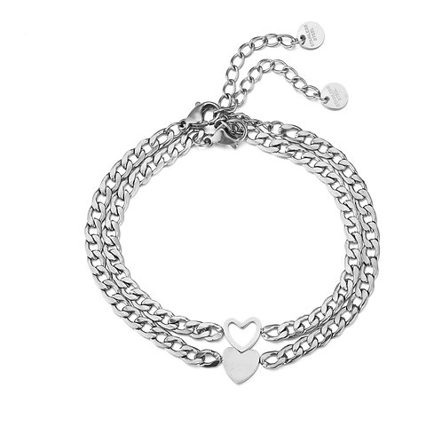 Forever connected bracelets - zilver