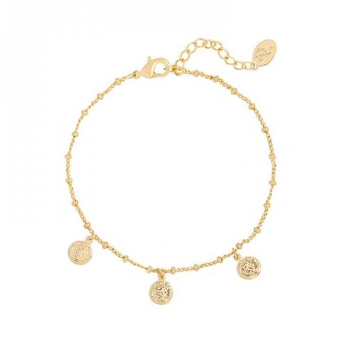 Triple coin bracelet - Gold