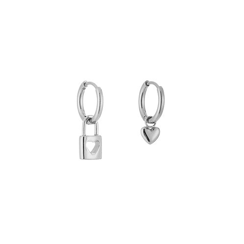 forever connected earring - zilver