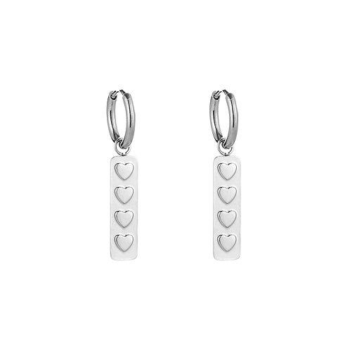 Lovely stop earring - zilver