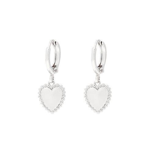 Follow your heart earring - silver