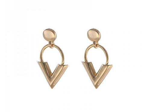 Little V earring - Gold