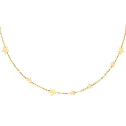 Star away necklace - goud