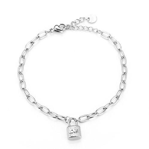 Lock it bracelet - zilver