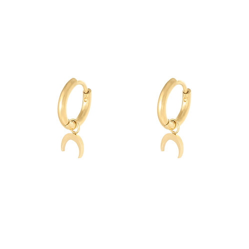 The horn earring - goud