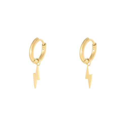 Lightning earring - goud