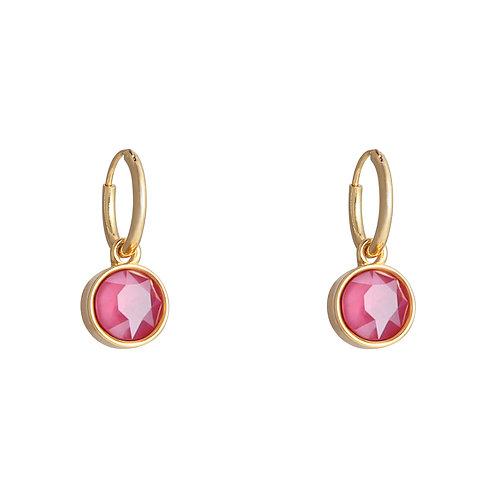 Vibe earring pink - goud