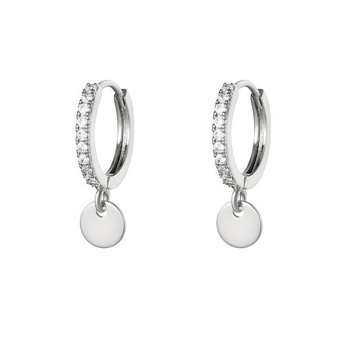 One more glitter earring - zilver