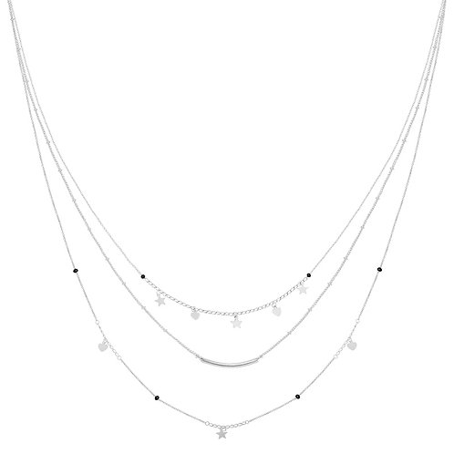 Necklace - famous star - Zilver