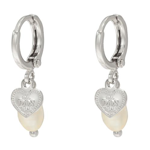 Sweet love earring - zilver
