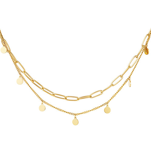 Just like love necklace - goud