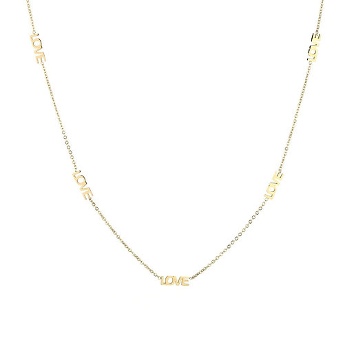 Love necklace - goud