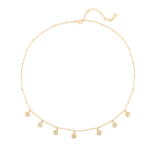 Necklace - cute coin gold