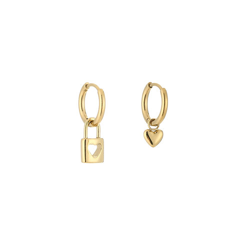 Forever connected earring - goud