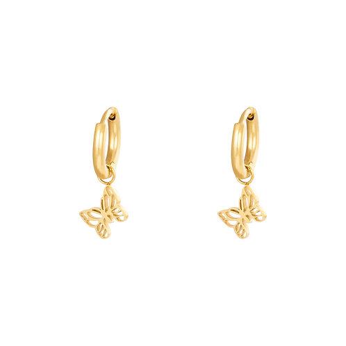 Fly away earring - goud