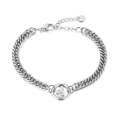 Snake fever bracelet - zilver