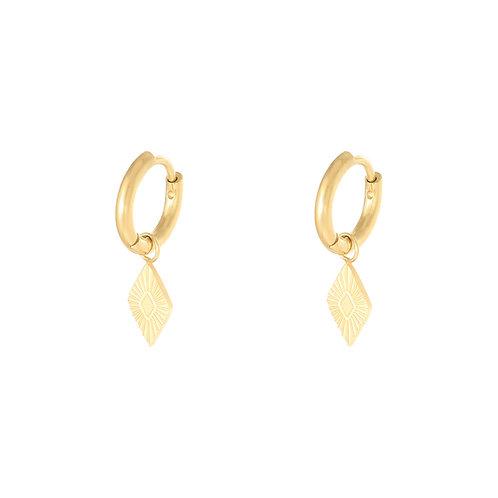 Savage love earring - goud