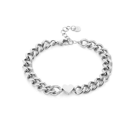 Heartbeat bracelet - zilver