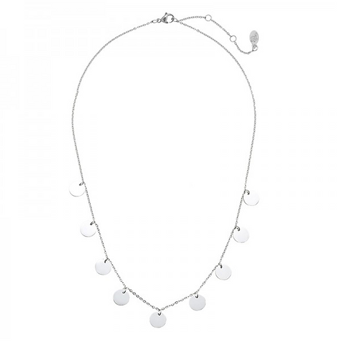 Necklace only circles - Silver