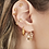 Thumbnail: Linked diamond earring - goud