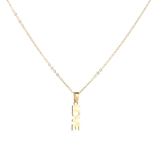 Forever love necklace - goud