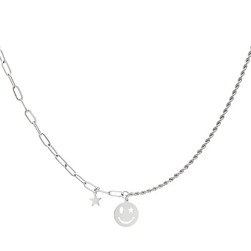 Smile with me necklace - zilver