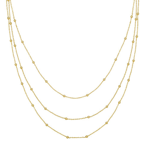 Necklace Layering Dots - Goud