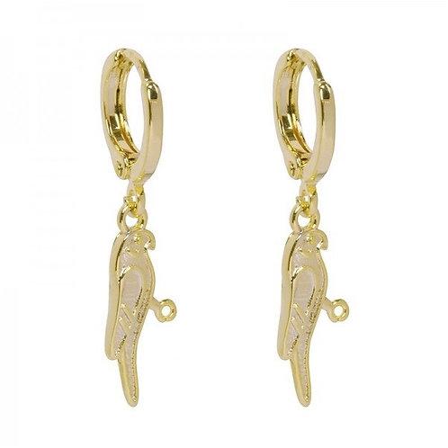 Parrot earring - Gold